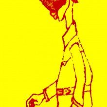 hombre del circo con gabardina