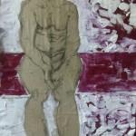"""Obra """"Mujer sentada"""" Maite Arriaga colección 2015"""