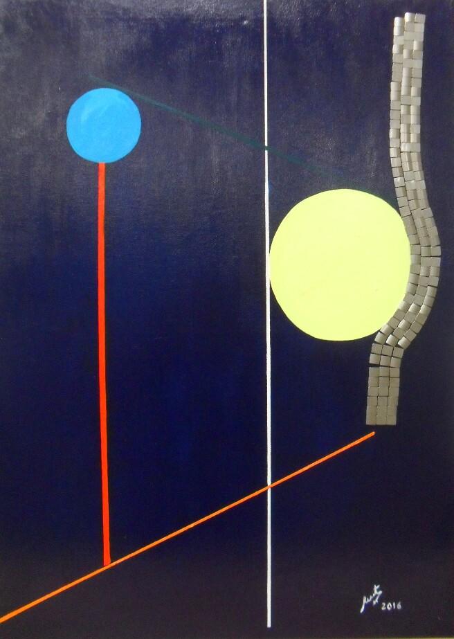 Composición y equilibrio - Cuadro en venta Artista Maite Arriaga