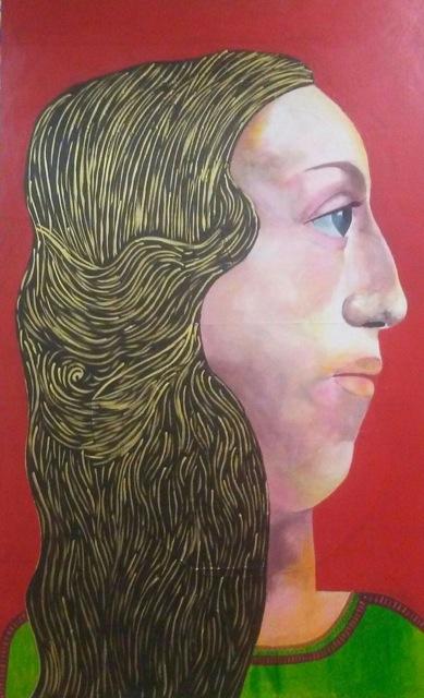 La dama del Chalcha - Cuadro en venta Artista Maite Arriaga