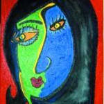 obra-MIRANDO-A-UN-LADO-cuadro-maite-arriaga-anio-2000