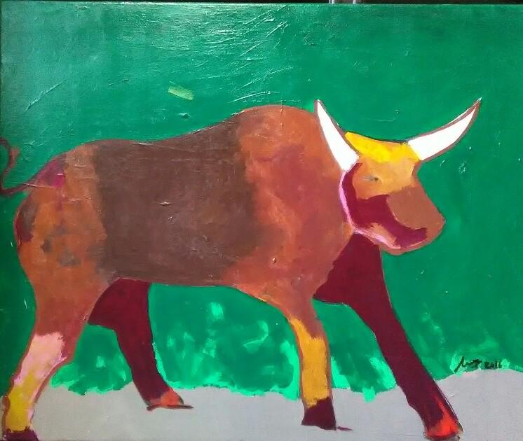 Toro - Cuadro en venta Artista Maite Arriaga