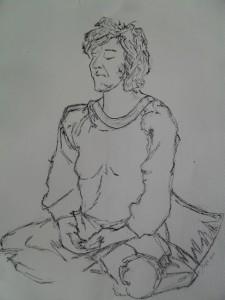 Yoga eta pintura, Maite Arriagan tailerra