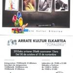 II. exposición colectiva de socios Kultural Arrate 2015
