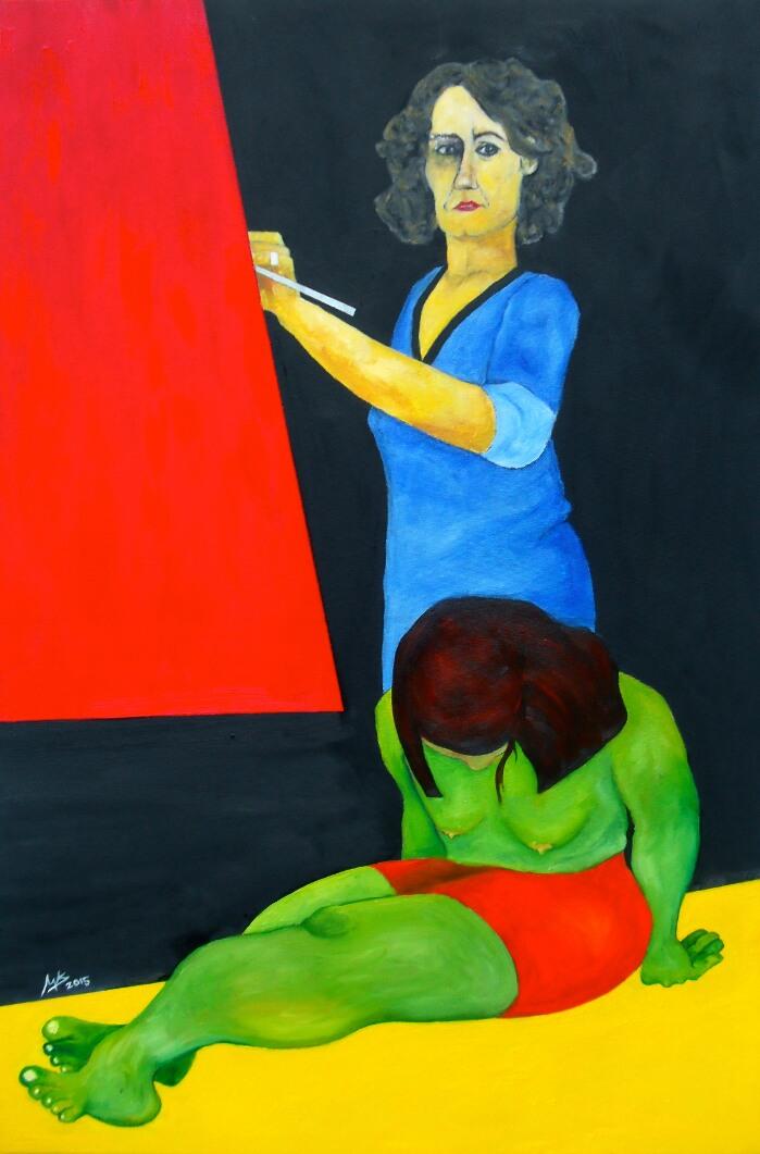 Autoretrato - Cuadro en venta Artista Maite Arriaga
