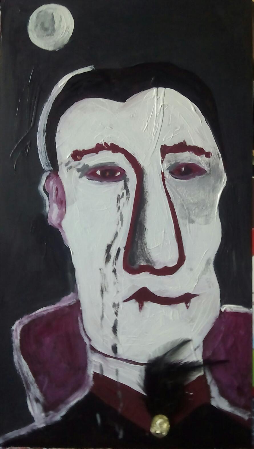 Vampiro triste - Cuadro en venta Artista Maite Arriaga
