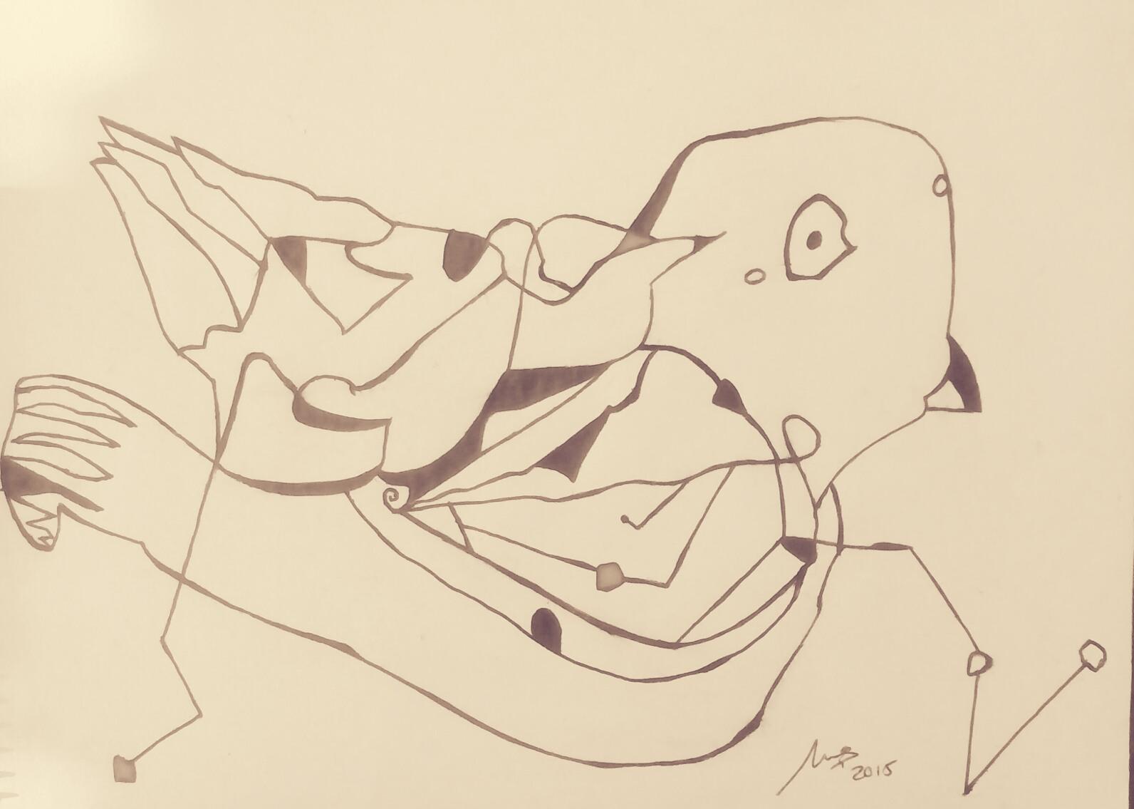 Pájaro - Cuadro en venta Artista Maite Arriaga