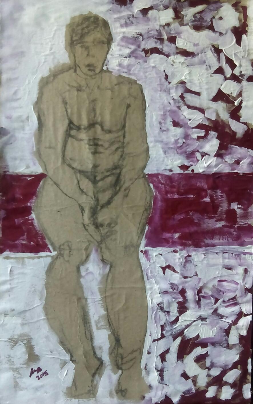 Mujer sentada - Cuadro en venta Artista Maite Arriaga