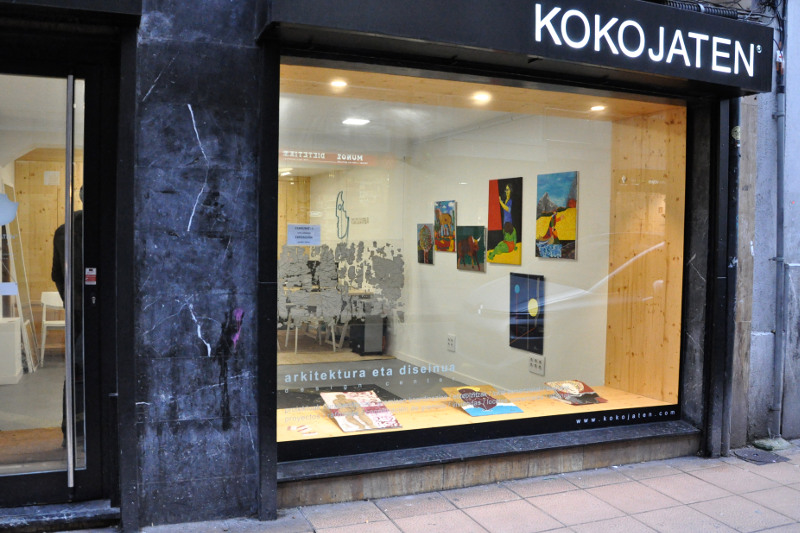 Exposición pintura Maite Arriaga en Kokojaten Eibar
