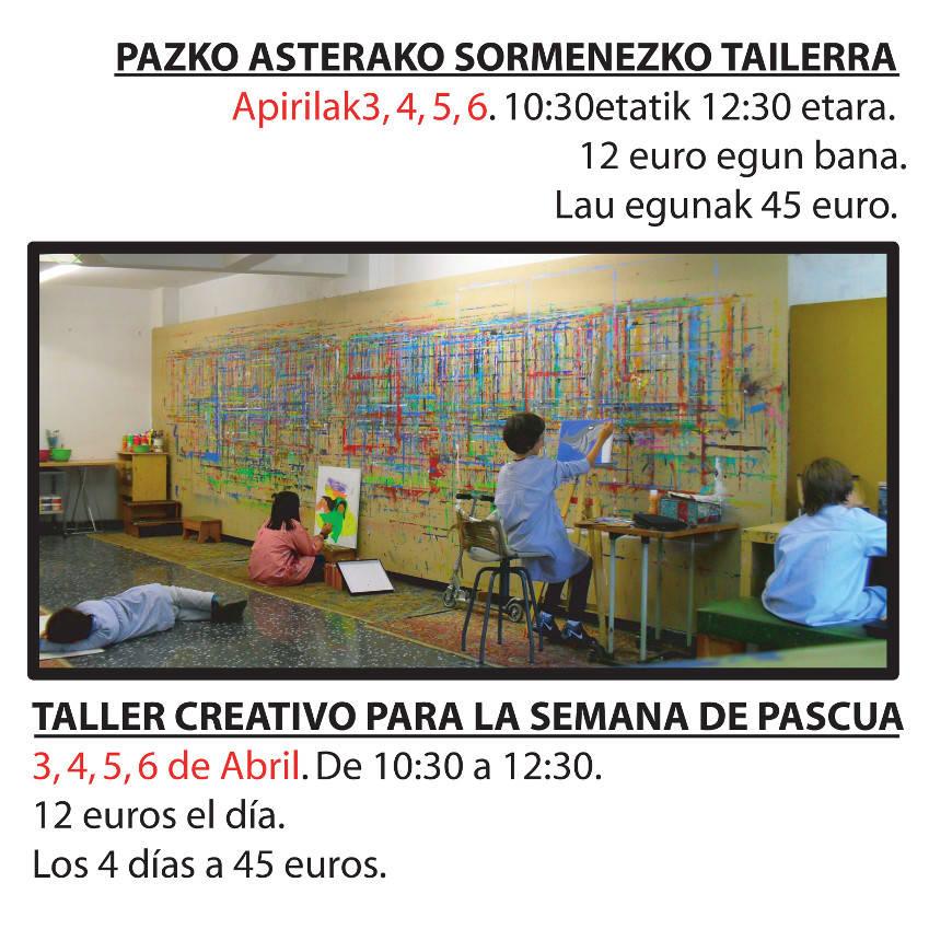 Taller Creativo para la semana de Pascua, Maite Arriaga