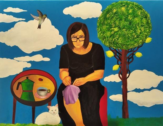 Cosiendo - Cuadro en venta Artista Maite Arriaga
